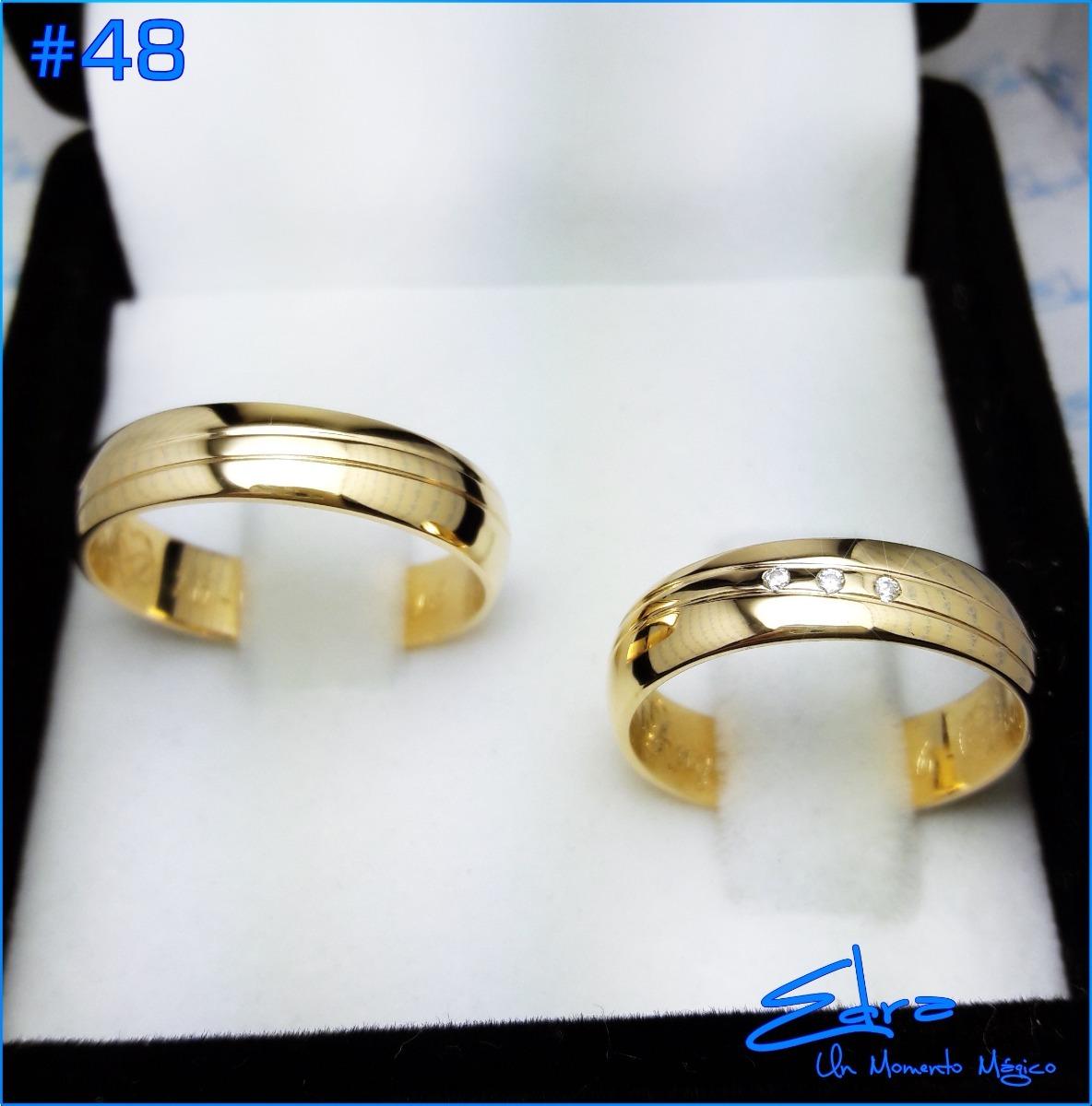 b1b2d1f10525 Argollas Matrimonio O Compromiso Oro 18k Macizo C u -   859.000 en ...