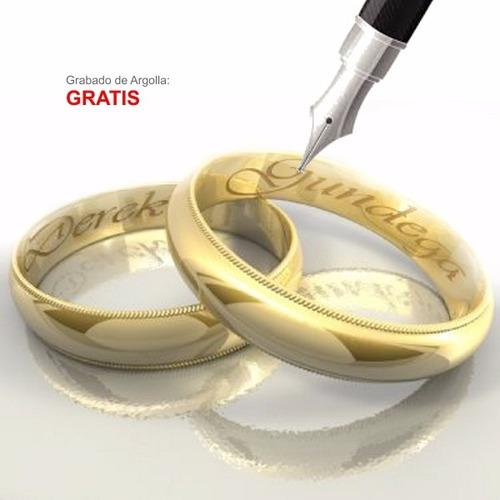 argollas matrimonio plata baño en oro. combo * 2 argollas