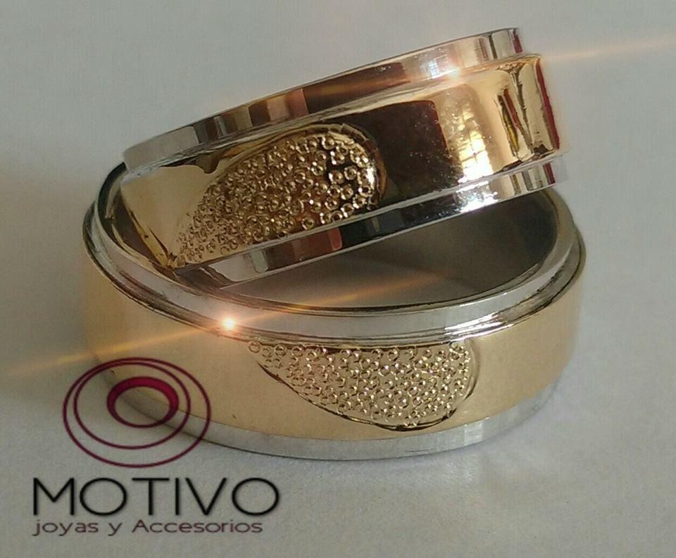 Argollas Matrimonio Plata Oro 18k + Anillo Compromiso