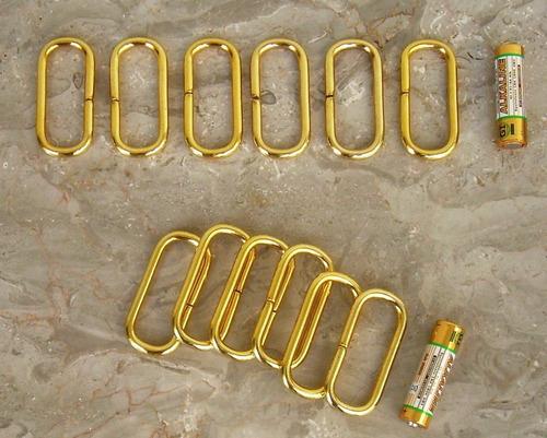 argollas mètalicas doradas rectangulares,para bolsos,correas