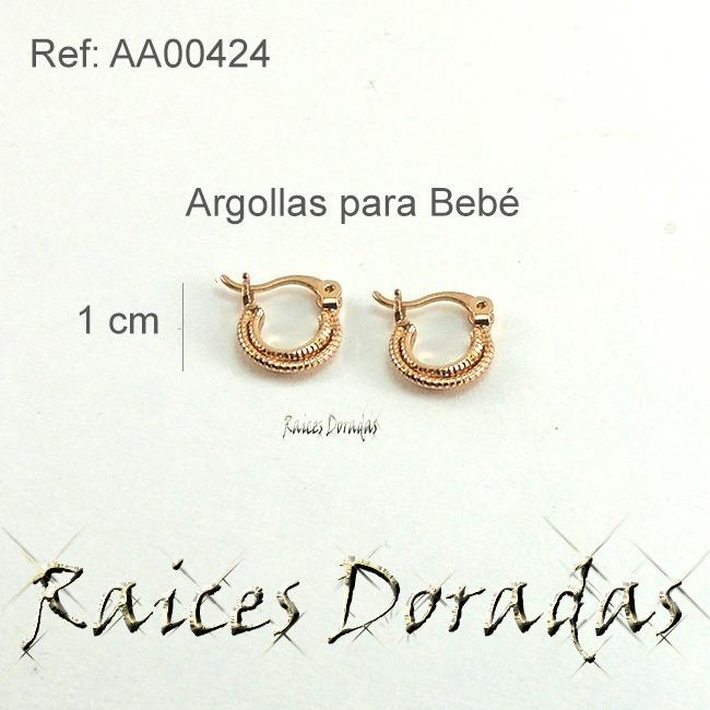 6dcc15d44b1e Argollas Para Bebé Laminado Oro 18k 6 Meses A 3 Añitos - Bs. 18.554 ...