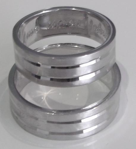 argollas  para matrimonio en plata 925  con estuche  (aya12)