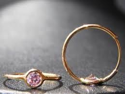 argollitas de oro 18k con cubic blanco o rosa