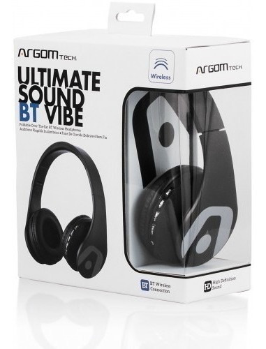 argom hs-2552bk audífono diadema microfono negro bluetooth