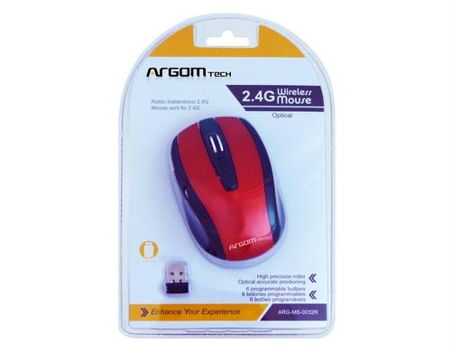 argom ms-0032r mouse inalambrico rojo (gadroves)