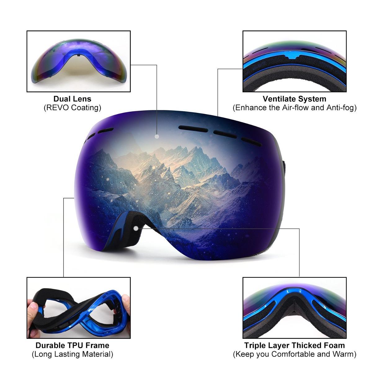 3a70cdcb1b Argus Le Otg Gafas De Snowboard Para Esquiar Gafas De Depor ...