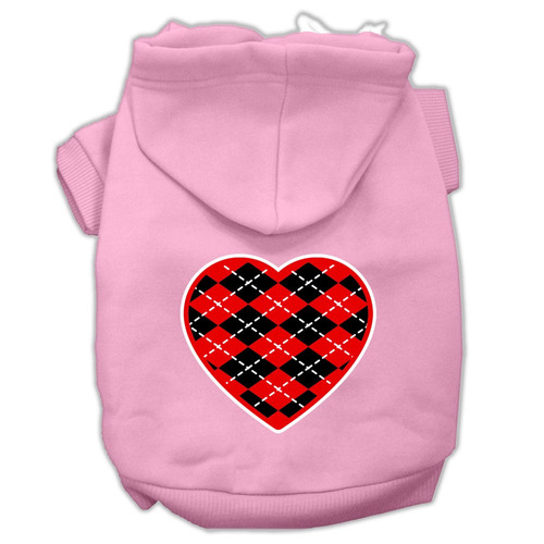 argyle corazón rojo pantalla impresión para mascotas sudad