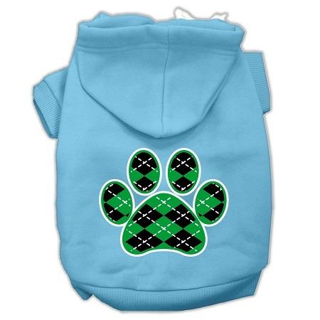 argyle pata verde pantalla impresión para mascotas sudadera