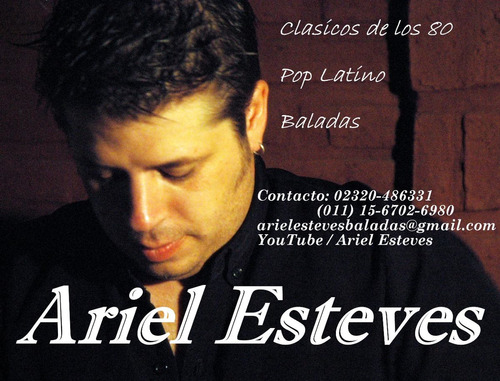 ariel esteves show musical en vivo cantante fiestas eventos