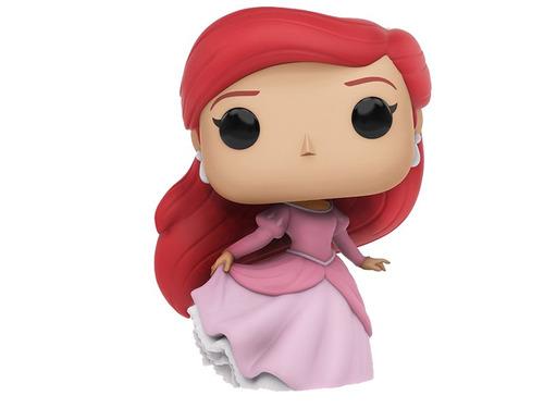 ariel la sirenita disney princesas funko pop vestido rosa cf