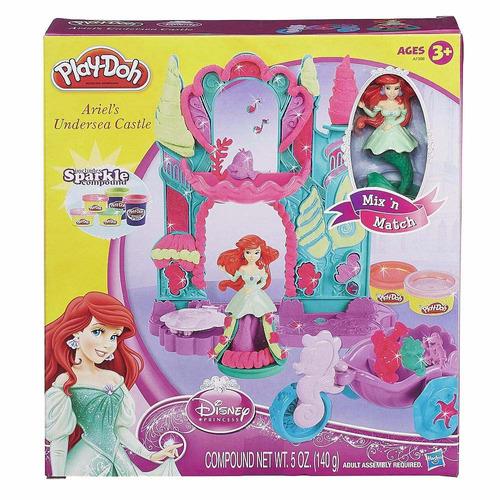 ariel play doh  castillo jugueteria  bunny toys