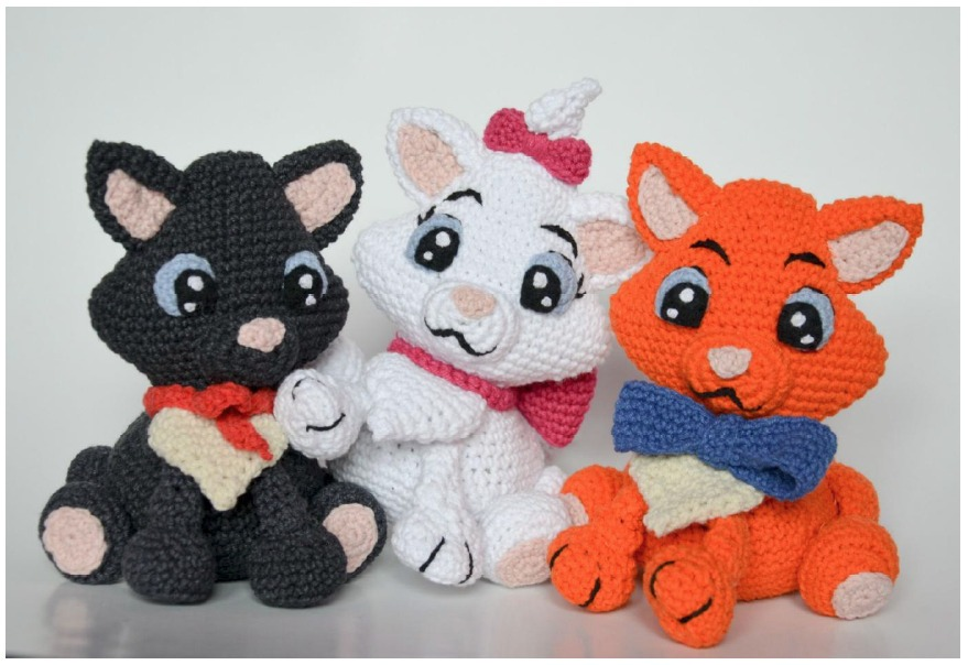 Amigurumi gato : Aristogatos gato marie peluche amigurumi crochet disney