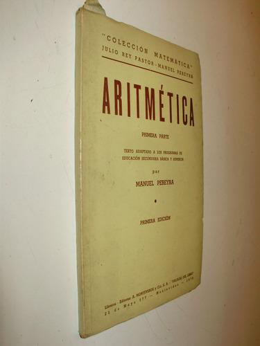 aritmetica 1a parte m. pereyra 1a edic monteverde urug 1976