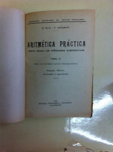 aritmética práctica- tomo 3- r. hevia y f. andrighetti