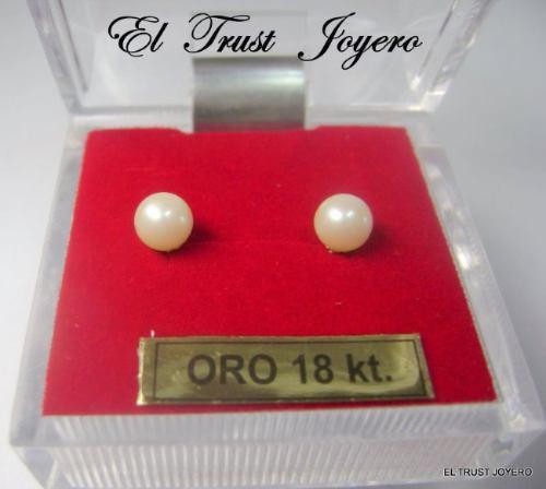 aritos abridores perla/ oro 18k. nº 2 el trust joyero gtia