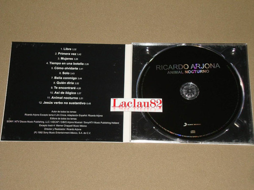 arjona animal nocturno 2012 sony music cd digipack