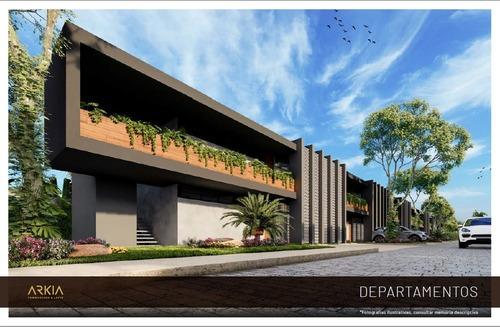 arkia departamento modelo a , planta alta en chuburná, en mérida.