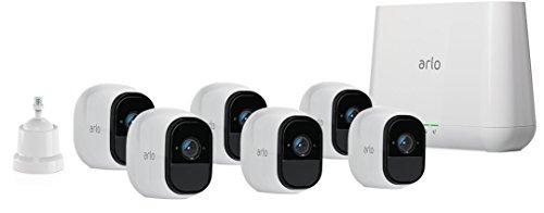 arlo pro de netgear security system con siren - 6 camaras hd