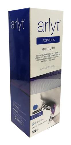 arlyt express 500 ml solucion lentes + estuche opcion retiro