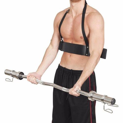 arm blaster - cinturon para biceps - mancuernas barras