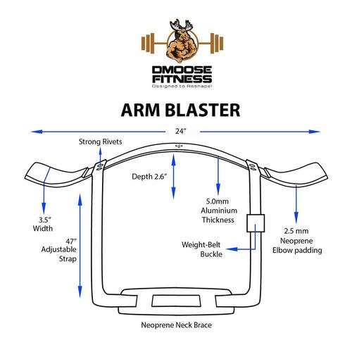 arm curl blaster por dmoose fitneas   aluminio de calibre...