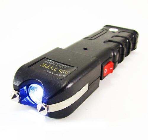 arma choque taser super potente recarregável lanterna led