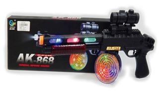 arma de combate ak-868 , con mira laser, cargador cn luces g