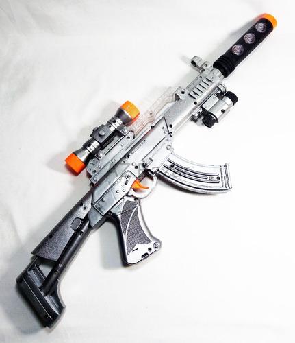 arma metralhadora pilha prateada luz som vibração