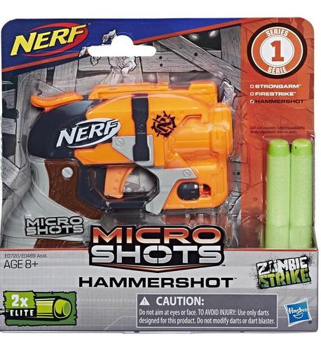 arma mini lanzador nerf microshots hasbro incluye 2 dardos