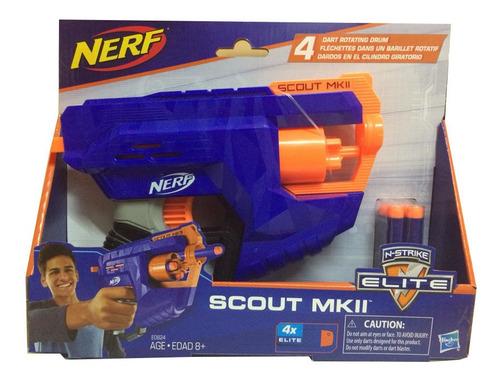 arma nerf hasbro scout mk2 con tambor giratorio
