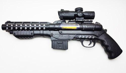 arma preta som e luz trabuco brinquedo