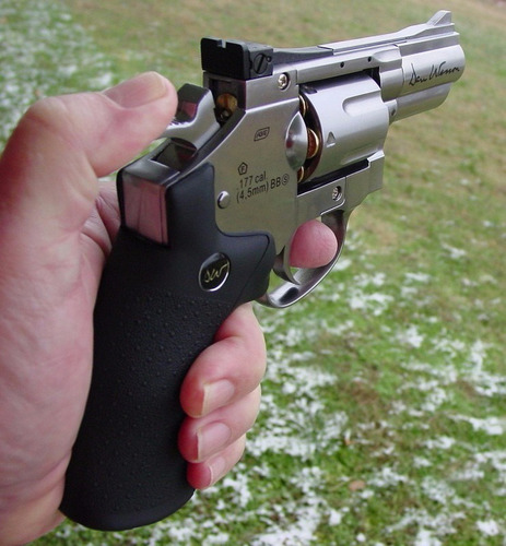 arma revolver dan wesson balines co2 metalico 4.5mm + regalo