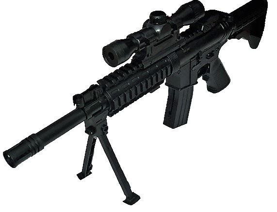 Arma Rifle Metralleta Tipo R15 M16 M4 Airsoft 6mm Bipode ... R15 Arma