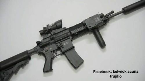 arma rifle modelismo  pvc pet