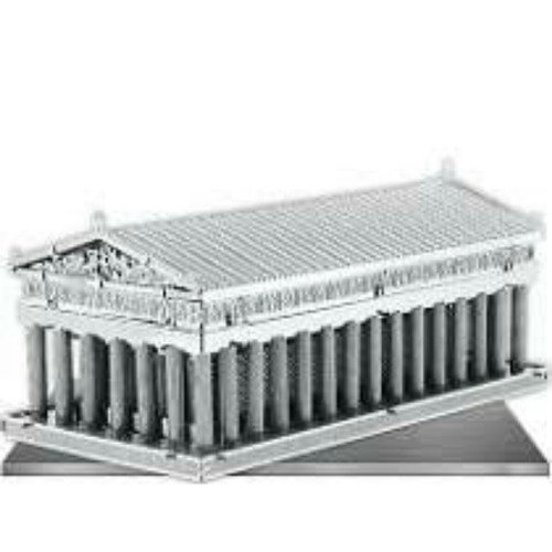 armable 3d metalico parthenon temple hermoso!!!!!