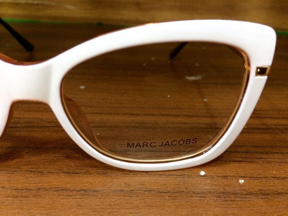 9bf4a47f75e0c armaçao de grau oculos branco retangular marc jacobs -mj102. Carregando  zoom.