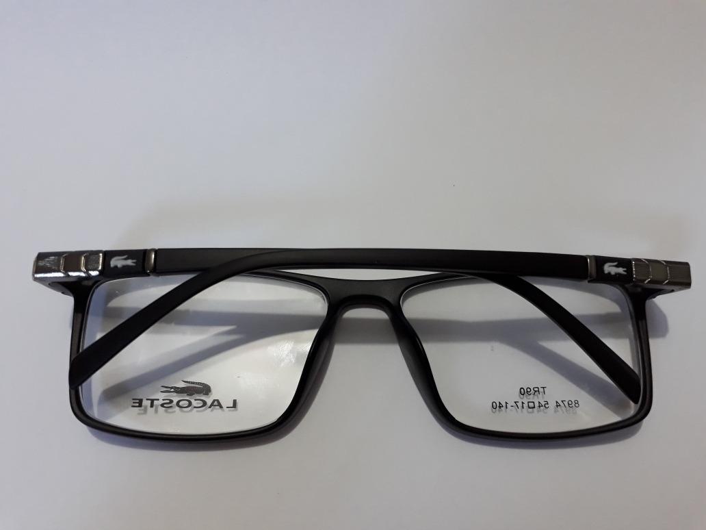 e613ddd2d4a88 armacao de grau oculos retangular masculino lacoste. Carregando zoom.