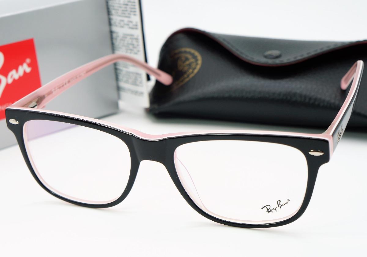 f3af2be3fe494 armacao de oculos de grau masculino barato ray ban preto. Carregando zoom.