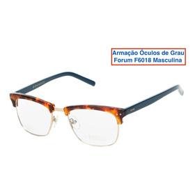 Armação Óculos De Grau Forum F6018 Masculina - Marrom