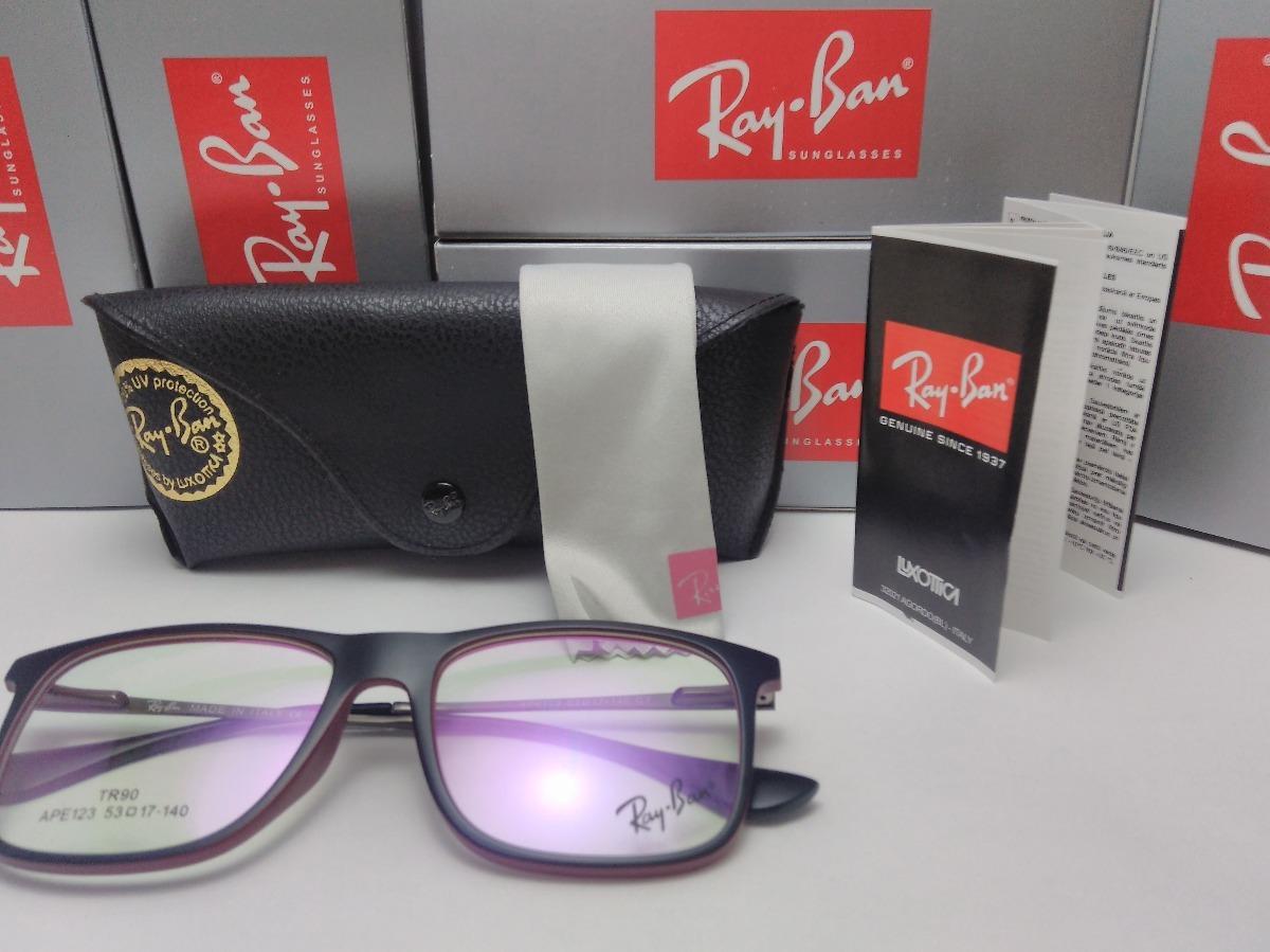 43572e6a0 Armacao Oculos De Grau Ray Ban Quadrado Masculino Feminino - R$ 69 ...