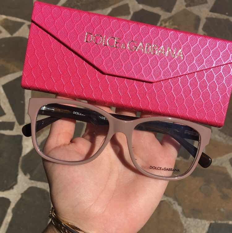 Armacao Oculos Dolce Gabbana Bege Escuro Areia - R  149,00 em Mercado Livre 1de9fadca3