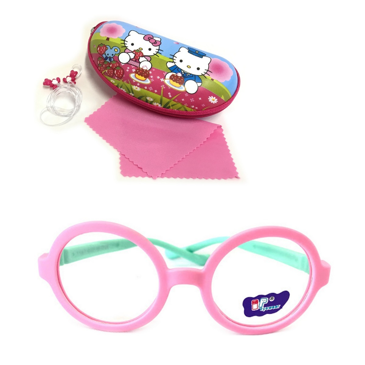 Armacao Óculos Grau 848 Infantil Flexível Silicone Menina - R  120,00 em  Mercado Livre fd65004d76