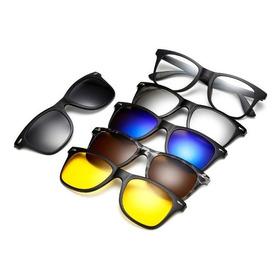 Armação Óculos Grau Clip On 6 Em 1 Polarizado Uv400 Mod 2208