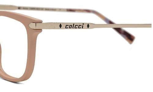 8b253d0aa59d1 Armacao Oculos Grau Colcci Anna C6095b2554 Creme Com Dourado - R ...