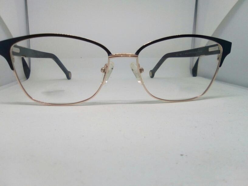 4a3a6855aaeea Armaçao Oculos Grau Feminino Detalhe Dourado - R  79