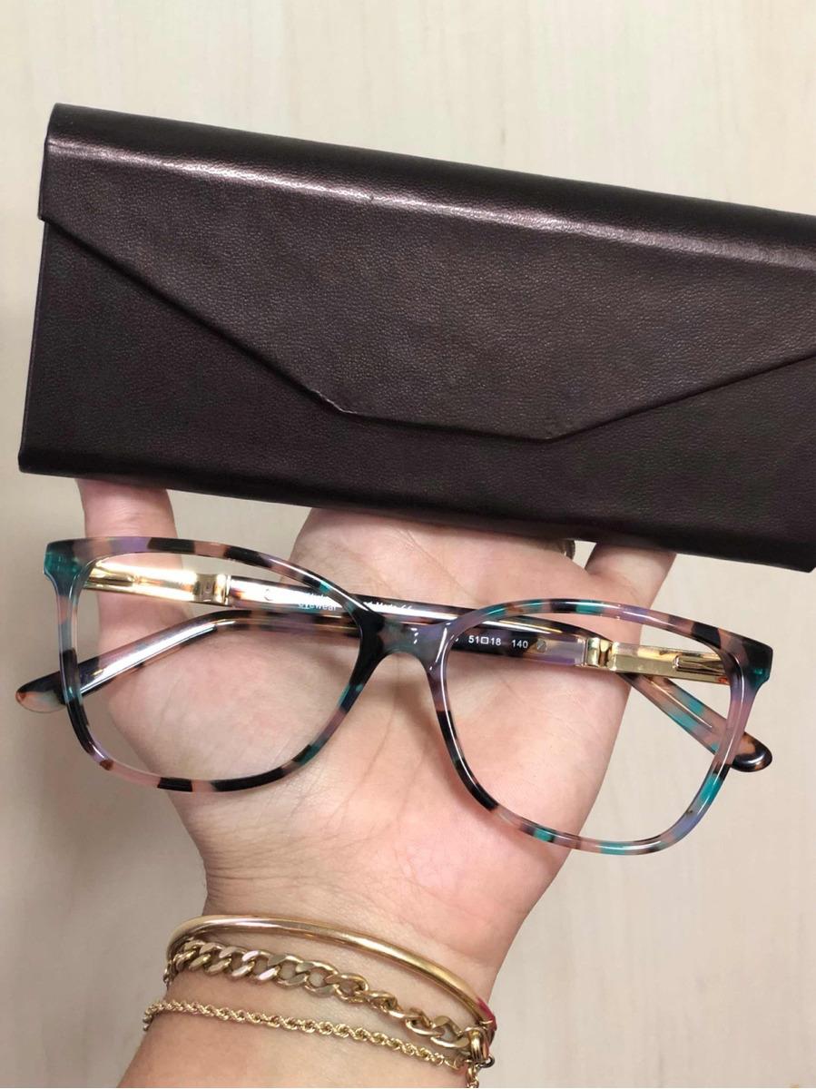 150caaff0 Armacao Oculos Grau Pintada Onça Onçinha - R$ 139,00 em Mercado Livre