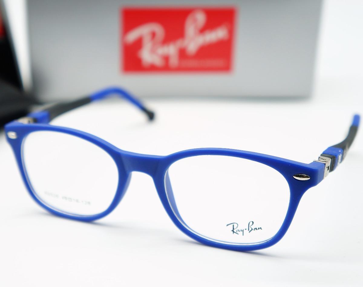 8b51f69342b56 armacao oculos infantil acetato barato ray ban redondo azul. Carregando  zoom.