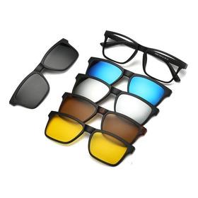 Armação Para Óculos Grau Clip On 6 Em 1 Polarizado Uv400