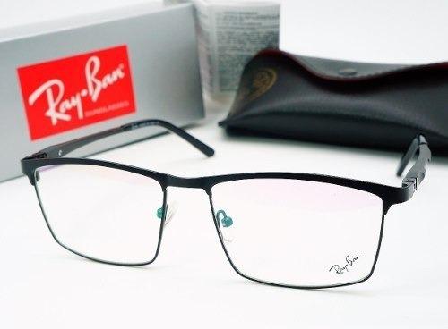 237e42755286f Armacao Ray Ban Oculos Grau Masculino Titanio Fechada Preto - R  120 ...