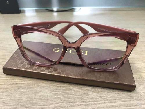 Armação Acetato Gucci Rose Transparente Gatinho - R  129,99 em ... 82124165f6